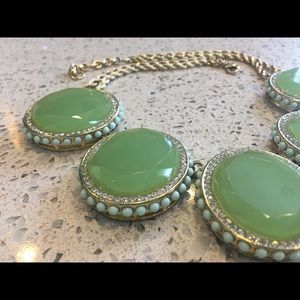 Banana Republic mint green statement necklace